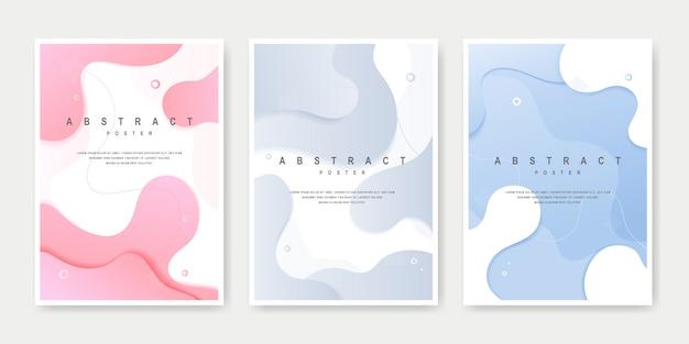 Ensemble de couverture de style fluide creative dynamic.