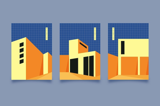 Ensemble de couvertures d'architecture minimale