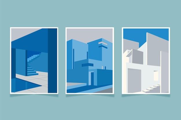 Ensemble de couvertures d'architecture de modèle minimal
