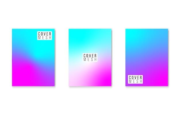 Ensemble de couvertures de couleurs fluides.