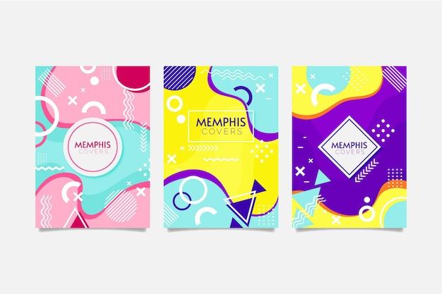 Ensemble de couvertures design coloré memphis