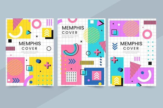 Ensemble de couvertures design memphis