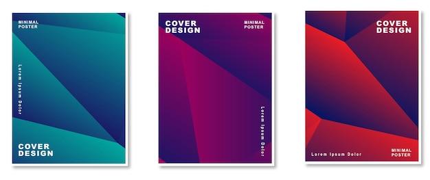 Ensemble de couvertures de fond abstrait dégradé coloré