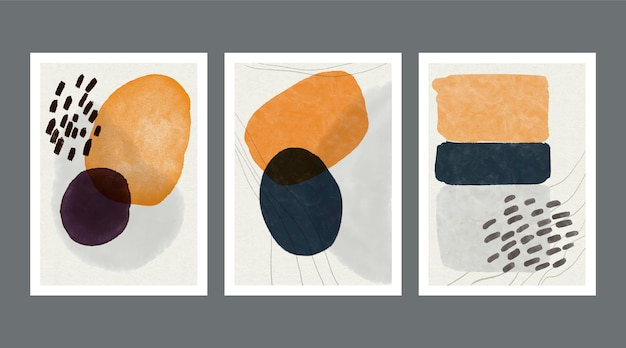 Ensemble de couvertures de formes aquarelles abstraites
