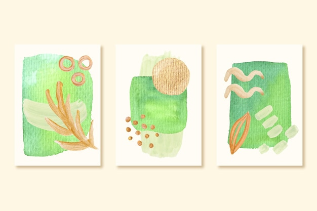 Ensemble de couvertures de formes peintes