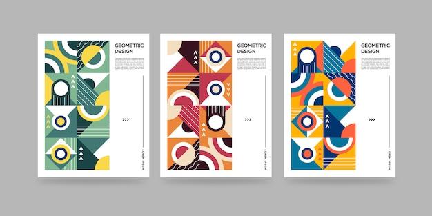 Ensemble de couvertures géométriques abstraites