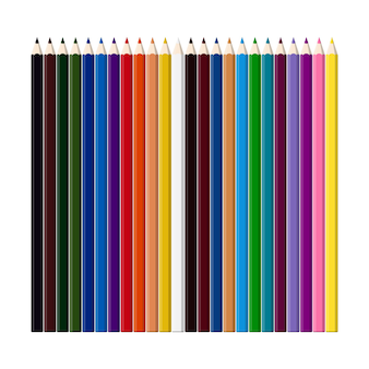 Ensemble de crayons de couleur pour le dessin