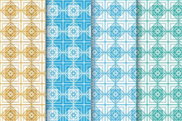 Ensemble créatif abstrait géométrique sans soudure