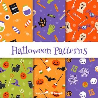 Ensemble créatif de motifs d'halloween