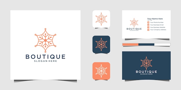 Ensemble de création de logo créatif ancre marine et marine nautique