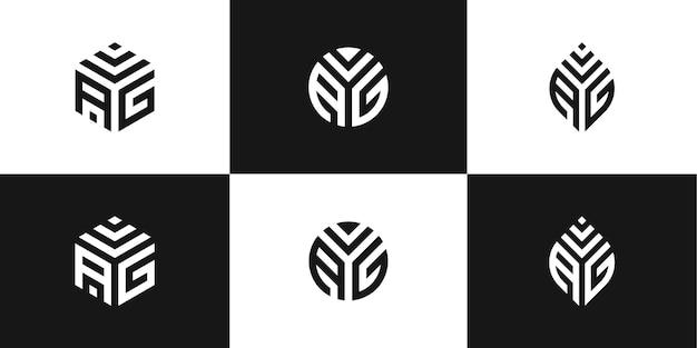 Ensemble de création de logo créatif