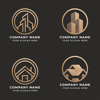 Ensemble de création de logo immobilier