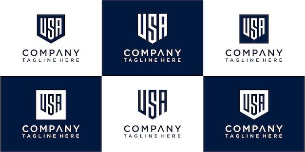 Ensemble de création de logo monogramme créatif