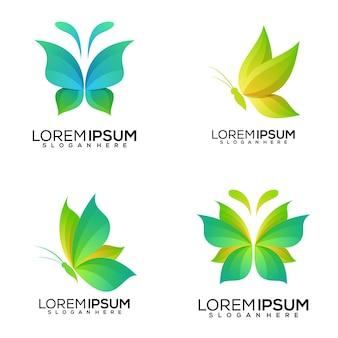 Ensemble de création de logo papillon