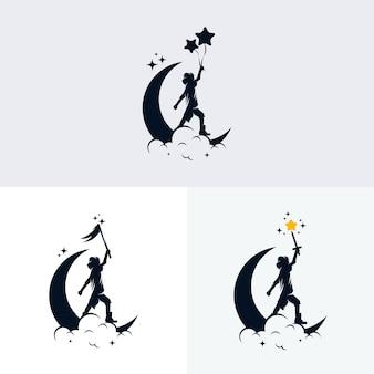 Ensemble de création de logo de rêve pour enfants