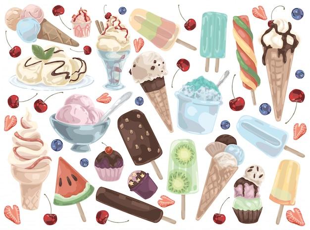 Ensemble de crème glacée