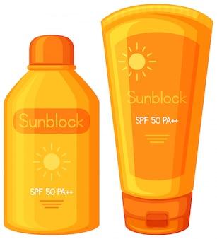Un ensemble de crème solaire