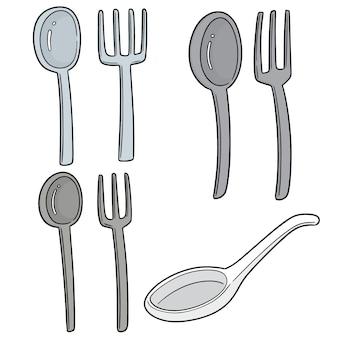 Ensemble de cuillères et fourchettes