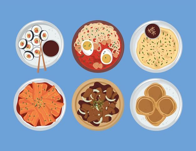 Ensemble de cuisine coréenne
