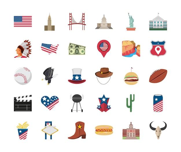 Ensemble de la culture américaine