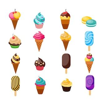 Ensemble de cupcakes bonbons