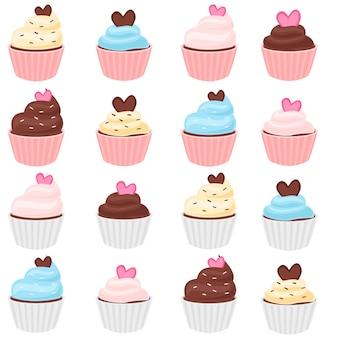 Ensemble de cupcakes