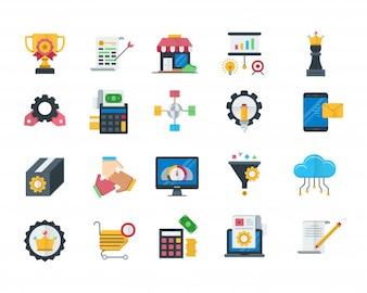 Ensemble d'icônes d'optimisation de moteur de recherche