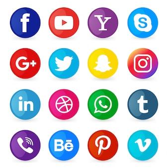 Ensemble d'icônes des médias sociaux
