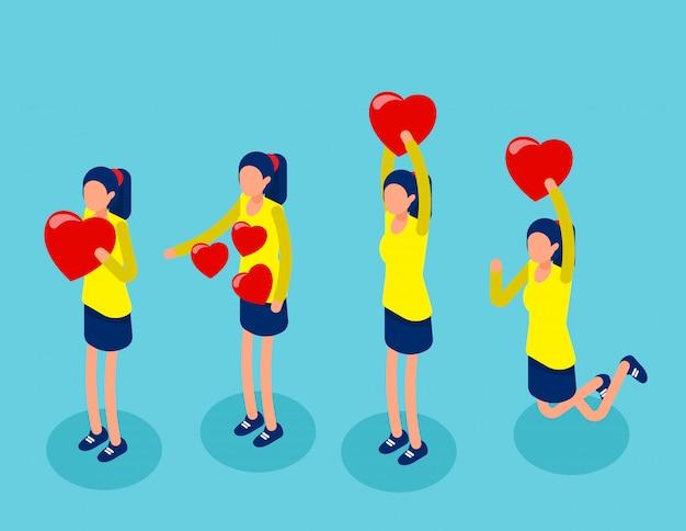 Ensemble dans la joie tenant des émotions pour la convivialité