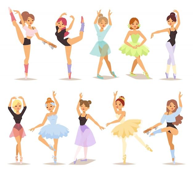 Ensemble de danseurs de ballerine.