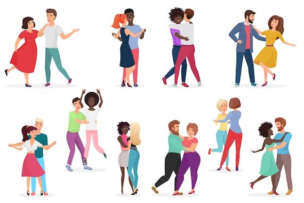 Ensemble de danseurs de couples de personnes