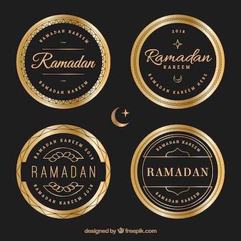 Ensemble de badges de luxe ramadan