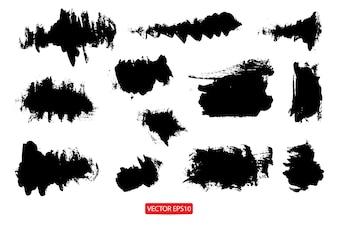 Ensemble de bannières de grunge texture de pinceau de fond abstrait pour la promotion