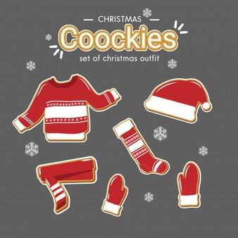 Ensemble de biscuits de Noël