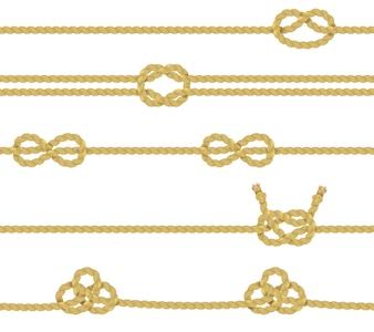 Ensemble de bordure de corde tricotée