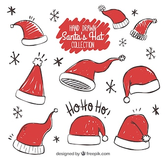 Ensemble de chapeaux de père Noël