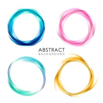 Ensemble de conception de fond abstrait coloré