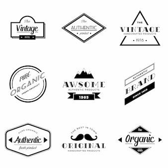 Ensemble de Logo vectoriel Vintage Badge
