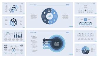 Ensemble de modèles de diapositives de dix affaires