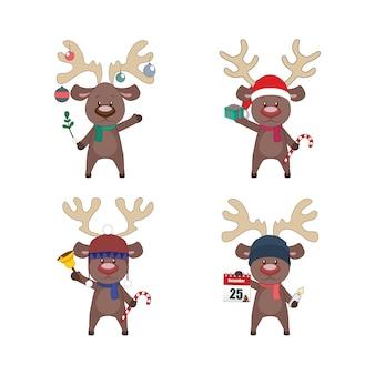 Ensemble de Rennes avec différents éléments de Noël