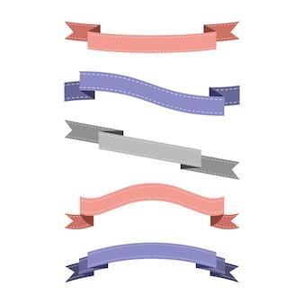 Ensemble de ruban coloré
