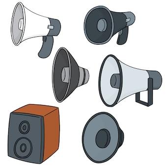 Ensemble de vecteur de haut-parleur