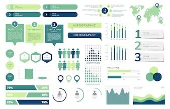 Ensemble de vecteurs infographie affaires