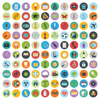 Ensemble de Web et de la technologie des icônes de développement