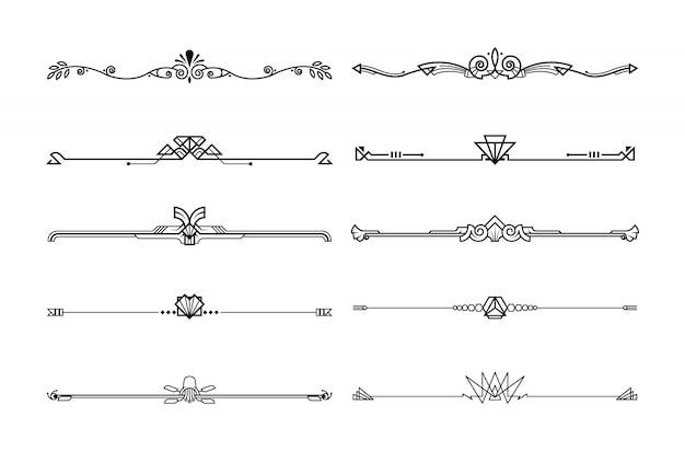 Ensemble décoratif de planches et séparateurs