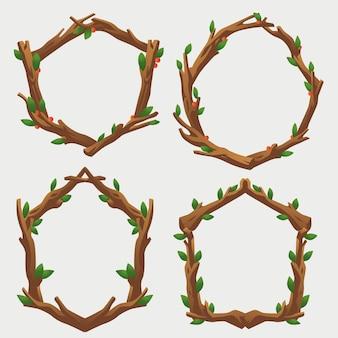 Ensemble de décoration de cadre de branche simple