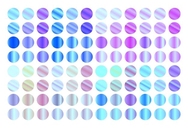 Ensemble de dégradés holographiques. gradients métalliques modernes.