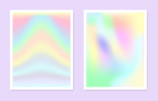 Ensemble de dégradés holographiques