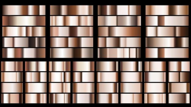 Ensemble de dégradés métalliques aux couleurs bronze