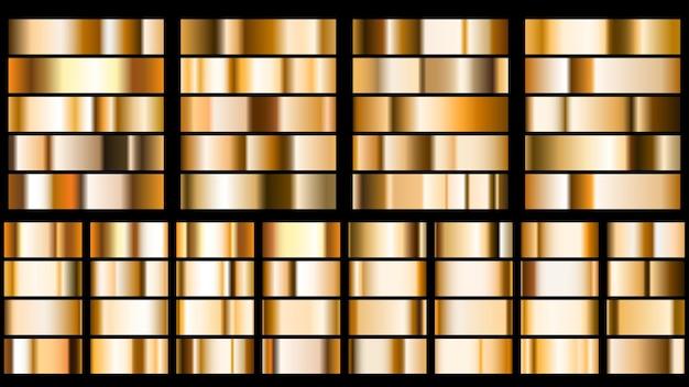 Ensemble de dégradés métalliques aux couleurs dorées